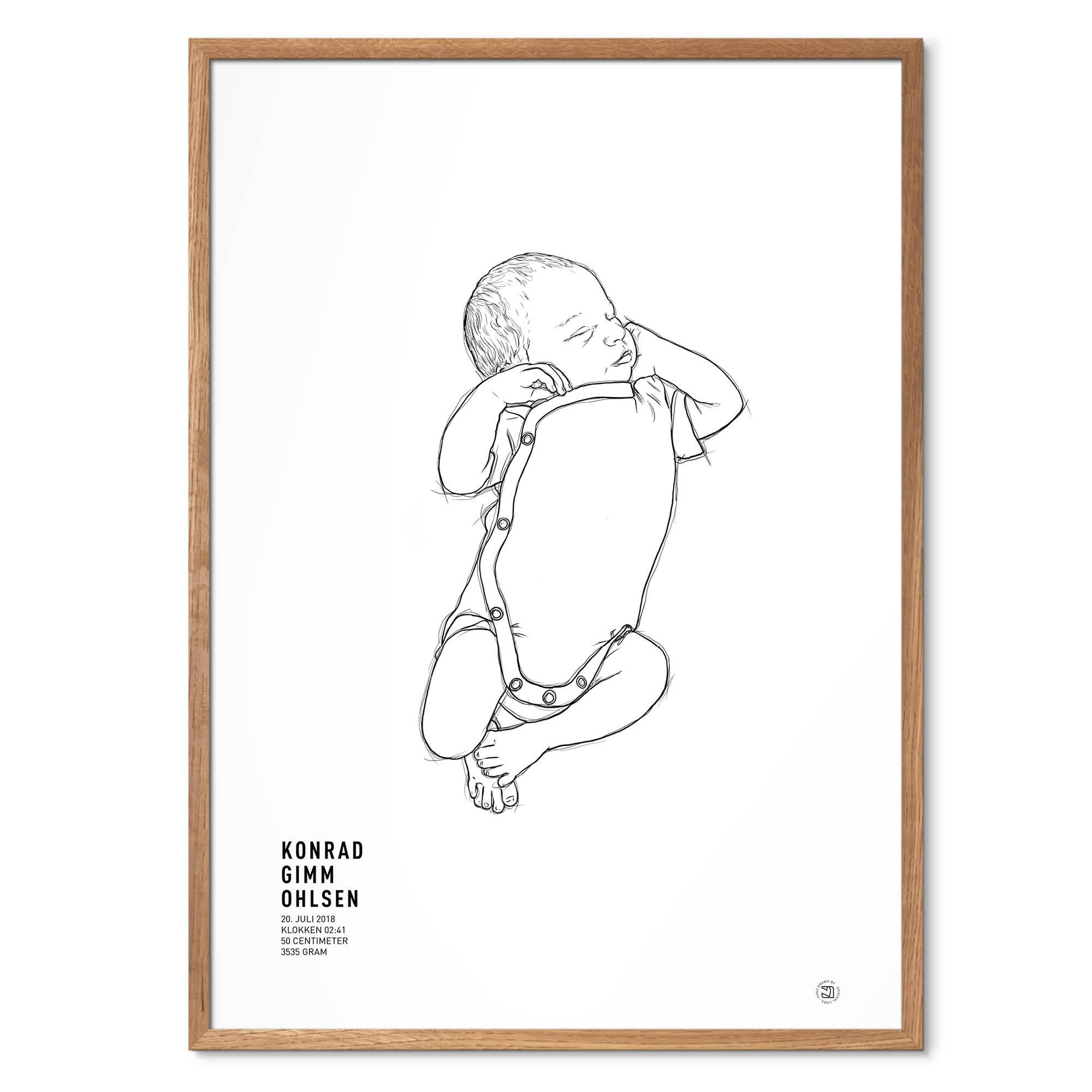 NEWBORN 1:1 fødselsplakat